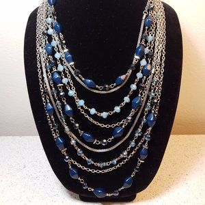 EL Erica Lyons Blue & Silver Necklace